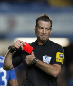Mark Clattenburg issued two red cards during the game